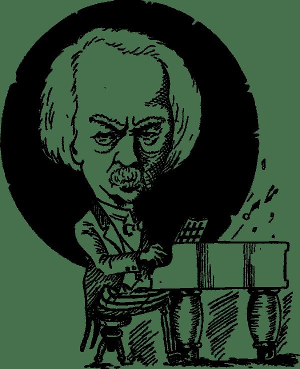 Ignacy Jan Paderewski caricature