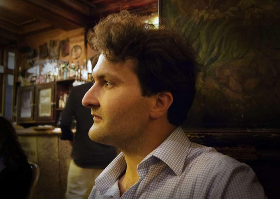 Lars Nelissen in Paris Café La palette
